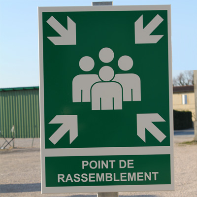 Point de rassemblement - Simple face